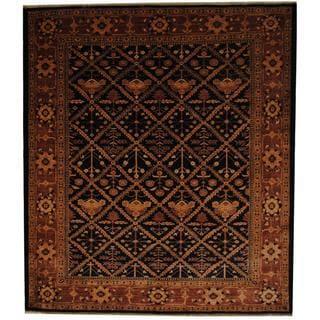 Herat Oriental Afghan Hand-knotted Oushak Vegetable Dye Wool Rug (8'3 x 9'4)