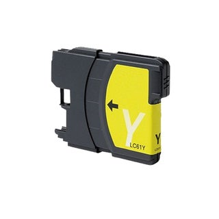 Brother LC61 Remanufactured Compatible Yellow Ink Cartridge