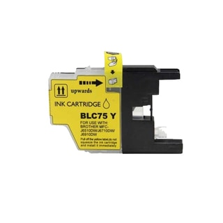Brother LC75 Yellow Compatible Ink Cartridge (Remanufactured)