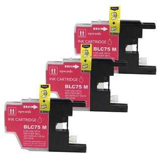 Brother LC75 Magenta Compatible Ink Cartridge (Remanufactured) (Pack of 3)