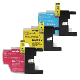 Brother LC75 Cyan, Yellow, Magenta Compatible Ink Cartridge (Remanufactured) (Pack of 3)