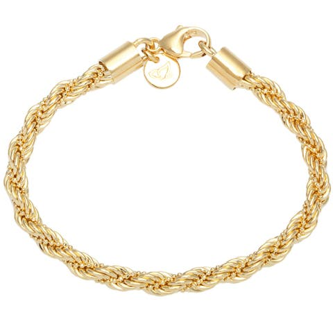 Forever Last 18 k Yellow Gold Plated 8-inch Yellow Beaded Rope Necklace