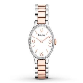 Bulova Women's Diamond Accent Bezel Two-Tone Watch