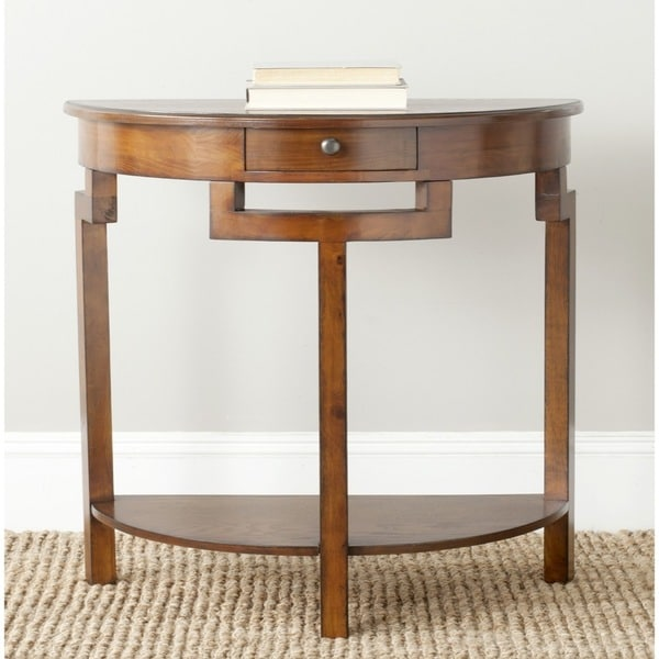 15 Entrance Hall Table Styles To Marvel At: Shop Safavieh Liana Brown Console