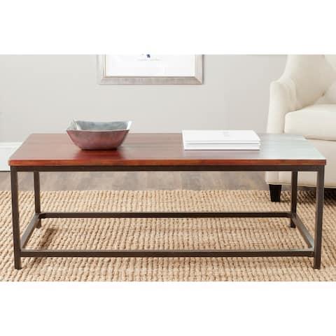 "SAFAVIEH Alec Distressed Maroon Coffee Table - 48"" x 24"" x 17.7"""