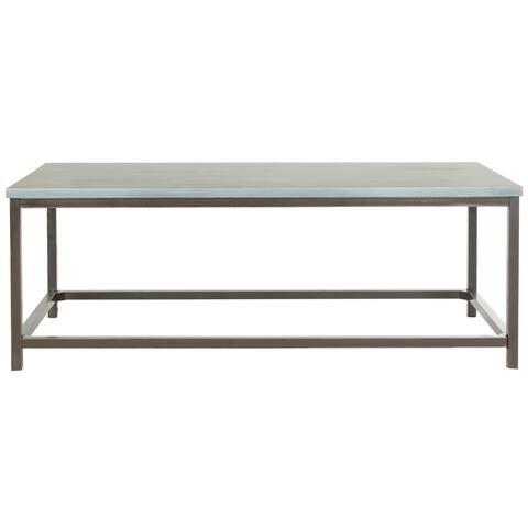 "Safavieh Alec Steel Blue Coffee Table - 48"" x 24"" x 17.7"""
