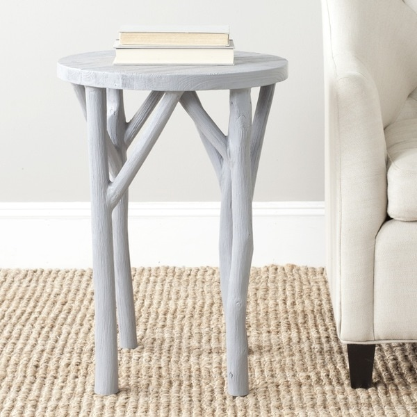 Shop Safavieh Harper Pearl Blue Grey Round End Table
