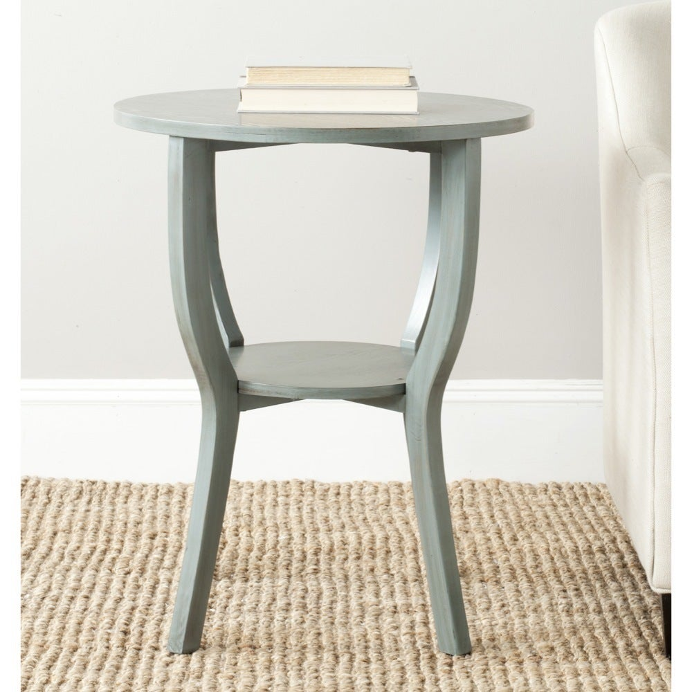 - Shop Safavieh Rhodes Steel Blue Accent Table - On Sale - Free
