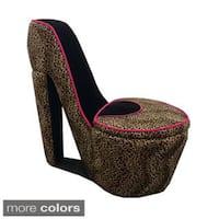 Cheetah Print High Heel Storage Chair
