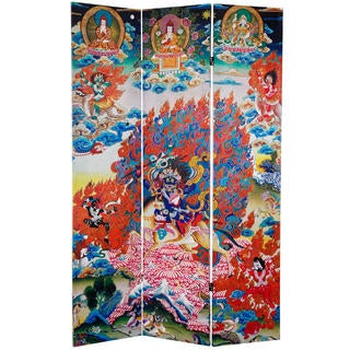 6-foot Tall Palden Lhamo Double-sided Canvas Room Divider