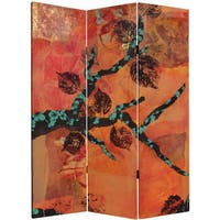 5-foot Tall Rich Autumn Canvas Room Divider