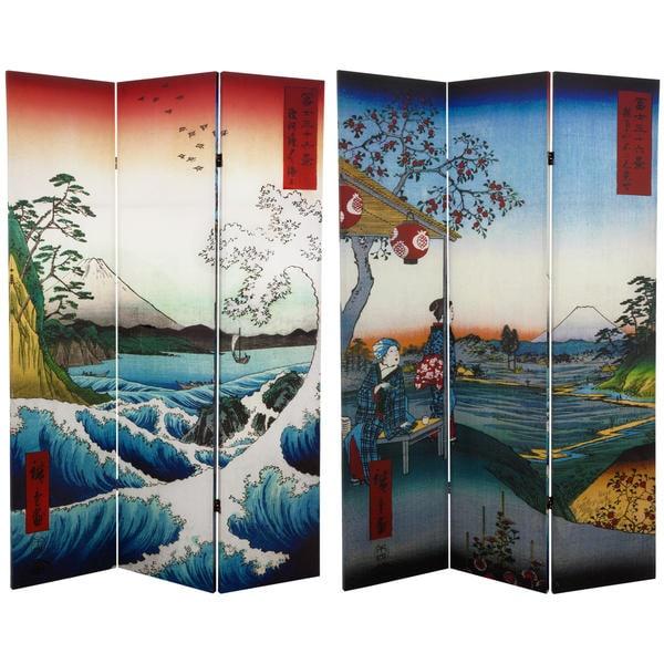 Handmade 6' Sea at Satta and Teahouse Hiroshige Room Divider