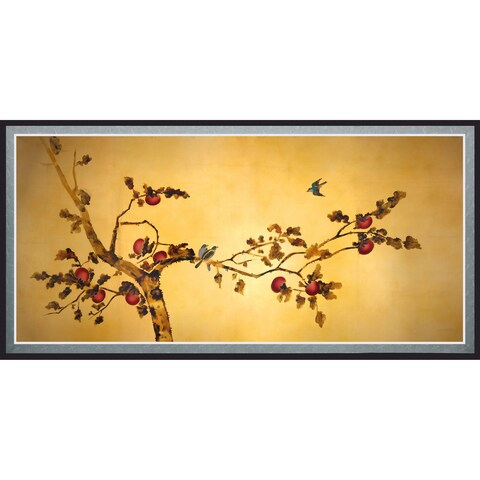 Birds on Plum Tree' Canvas Wall Art (As Is Item)