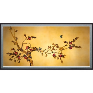 'Birds on Plum Tree' Canvas Wall Art