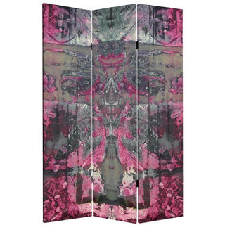 6-foot Tall Double-sided Pink Cosmic Debris Canvas Room Divider