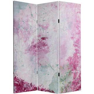 Handmade 5' Pink BoudoirCanvas Room Divider