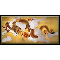 Dragons in the Sky Canvas Wall Art