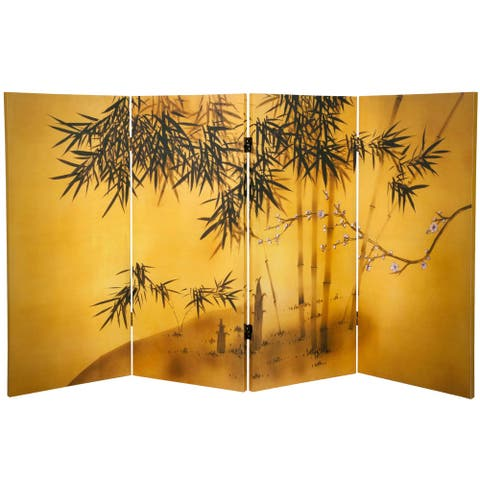 3-foot Tall Double-sided Bamboo Tree Canvas Room Divider