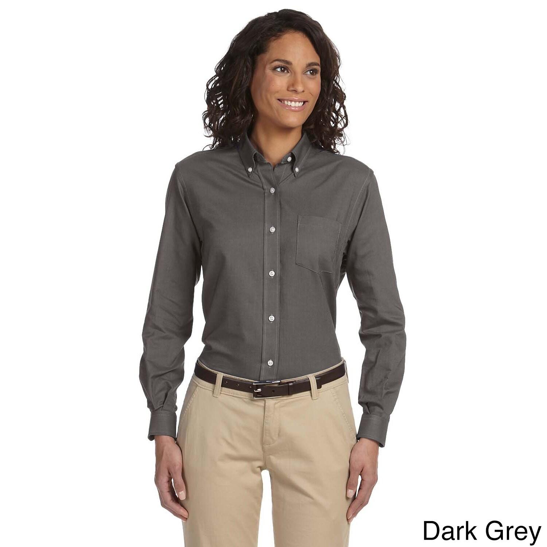 Van Heusen Women's Long Sleeve Wrinkle-resistant Oxford S...