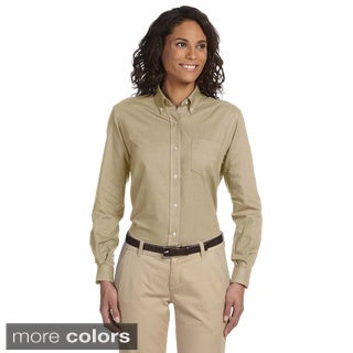 Van Heusen Women's Long Sleeve Wrinkle-resistant Oxford Shirt
