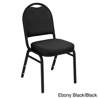 Fabric Padded Stacking Chairs (Set of 4)