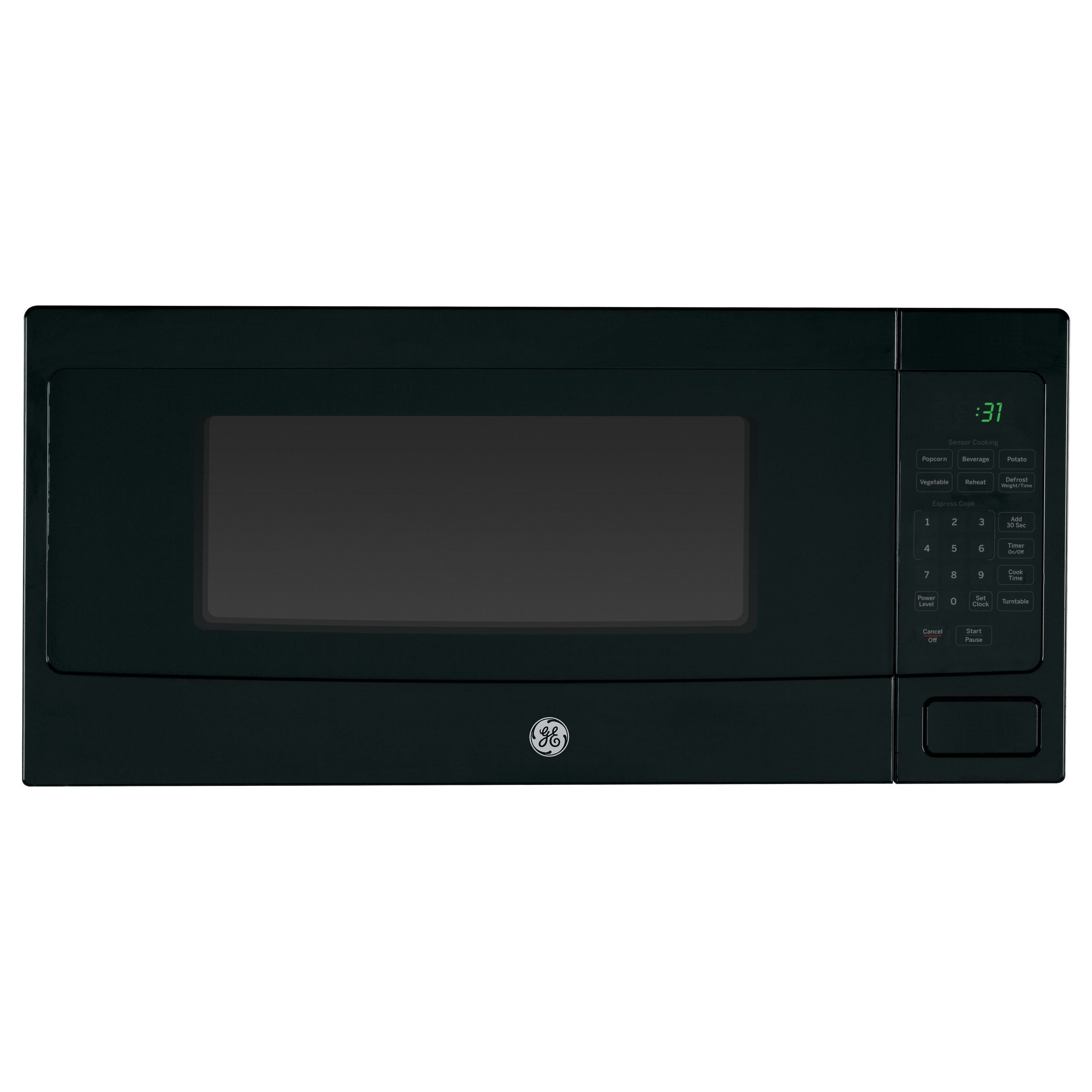 Ge Profile1 1 Cubic Foot Countertop Microwave Oven Black