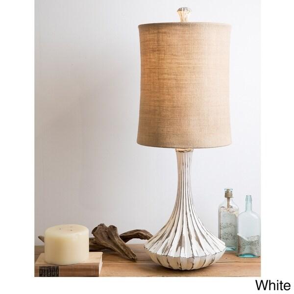 Gallant Distressed White Farmhouse Gourd Lamp
