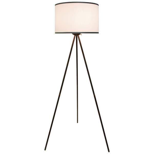 Threads Bronze Tripod Floor Lamp