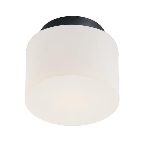 Sonneman Lighting Drum 1-light Satin Black Flush-mount Fixture