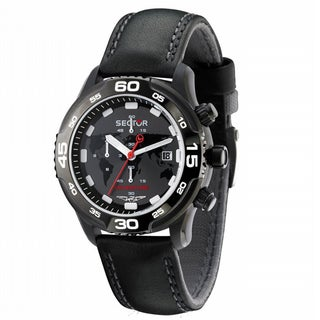 Sector Men's 'Mountain Adventure' Leather Watch
