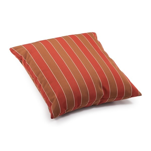 Havenside Home Twillingate Brown and Clay Wide Stripe Pillow