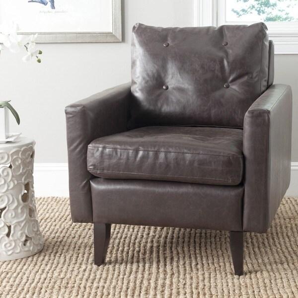Safavieh Caleb Antique Brown Club Chair