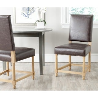 Safavieh Old World Dining Faxon Antique Brown Side Chairs (Set of 2)