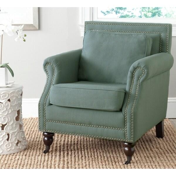 Shop Safavieh Randy Light Blue Armless Club Chair On