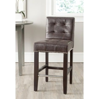 Safavieh 25.8-inch Thompson Antique Brown Counter Stool