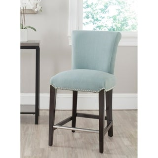 "Safavieh 25.9-inch Seth Sky Blue Counter Stool - 38.9""h x 18.7""w x 23.2""d"