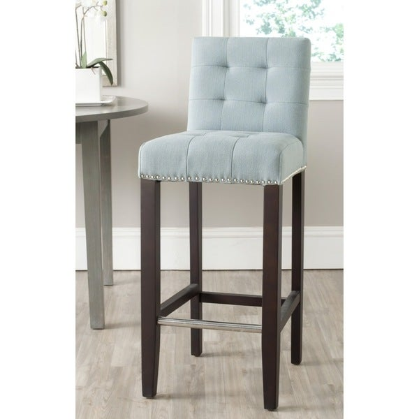 blue bar stools shop safavieh thompson sky blue bar stool 30 inch free 29684