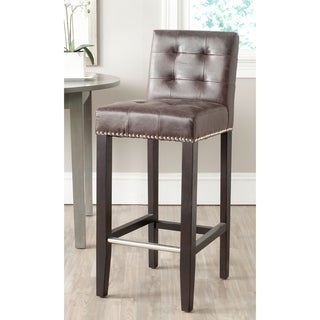 Safavieh Thompson Antique Brown Bar Stool 30-inch