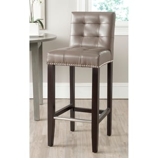 Safavieh Thompson Clay Leather Bar Stool 30-inch