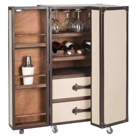 """Safavieh Grayson Storage Beige Bar Cabinet - 23.6"""" x 17.7"""" x 42.1"""""""