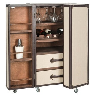 Safavieh Lexington Storage Beige Bar Cabinet