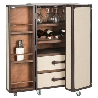Safavieh Grayson Storage Beige Bar Cabinet