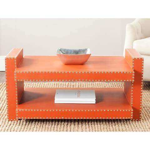 "Safavieh Garson Orange Coffee Table - 39.4"" x 23.6"" x 18.9"""