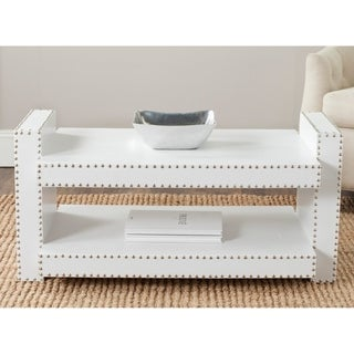 Safavieh Garson White Crocodile Coffee Table