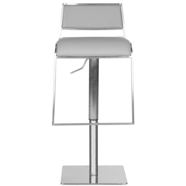 Astounding Shop Safavieh 28 7 38 6 Inch Natania Grey Leather Adjustable Lamtechconsult Wood Chair Design Ideas Lamtechconsultcom