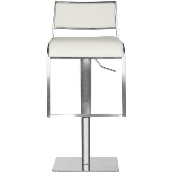 Marvelous Shop Safavieh 28 7 38 6 Inch Natania White Leather Lamtechconsult Wood Chair Design Ideas Lamtechconsultcom