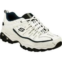 Skechers Men's After Burn Memory Fit Reprint White/Navy Athletic Shoes