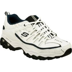 Skechers Men's After Burn Memory Fit Reprint White/Navy Athletic Shoes (More options available)