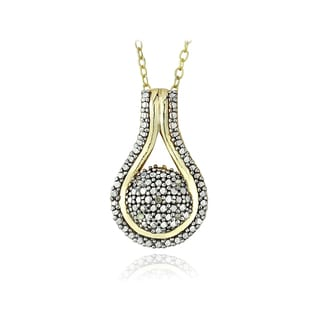 DB Designs 18k Gold Over Silver Diamond Accent Necklace