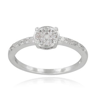 DB Designs Sterling Silver 1/6ct TDW Diamond Round Promise Ring